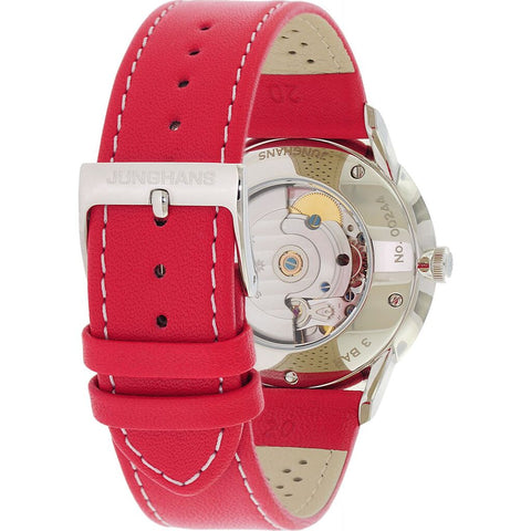 Junghans Meister Driver Automatic Watch | Red Calf Leather Strap 027/4716.00