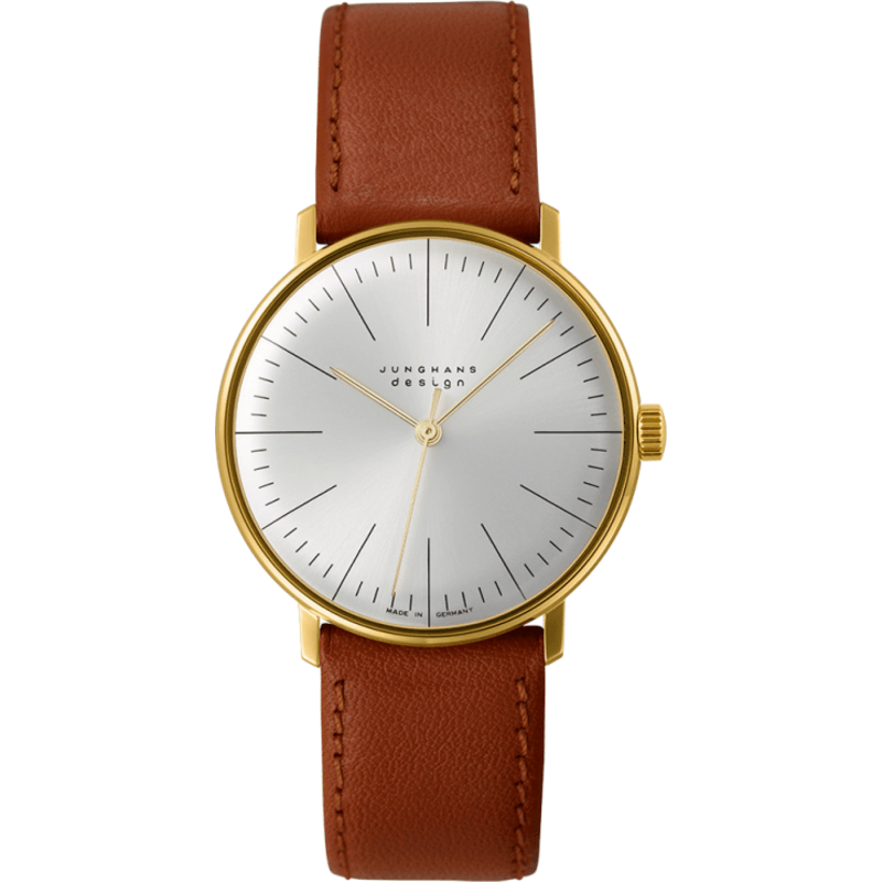 Junghans Max Bill Hand-Winding Watch | Brown Calfskin 027/5703.00