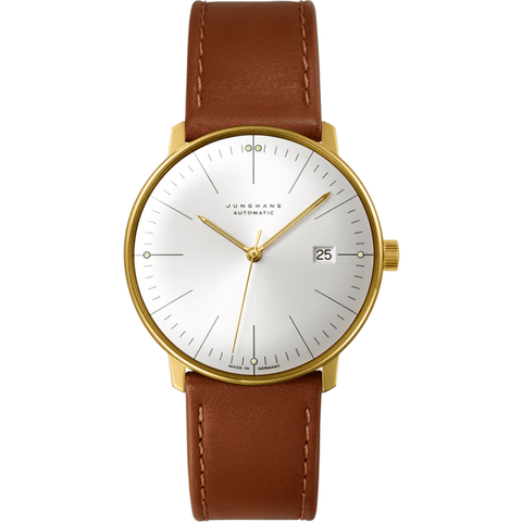 Junghans Max Bill Automatic Date Watch | Brown Calfskin 027/7700.00