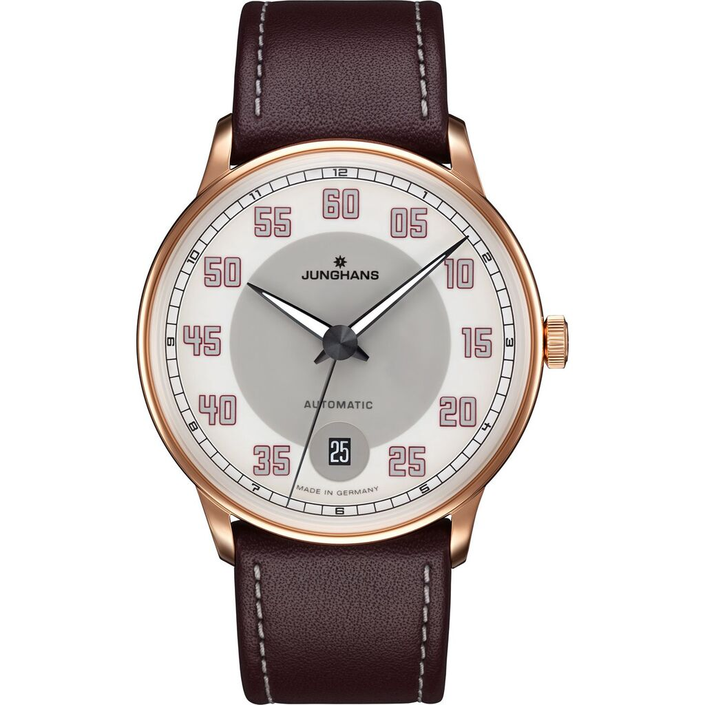 Junghans Meister Driver Automatic Watch | Dark Brown Calf Leather Strap 027/7710.00