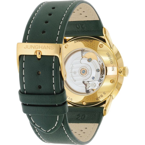 Junghans Meister Driver Automatic Watch | Dark Green Calf Leather Strap 027/7711.00
