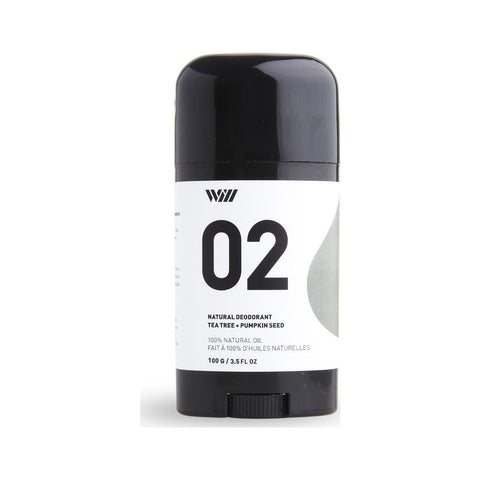 Way of Will 02 Natural Deodorant Stick | Tea Tree + Pumpkin Seed 02-WO-DEO
