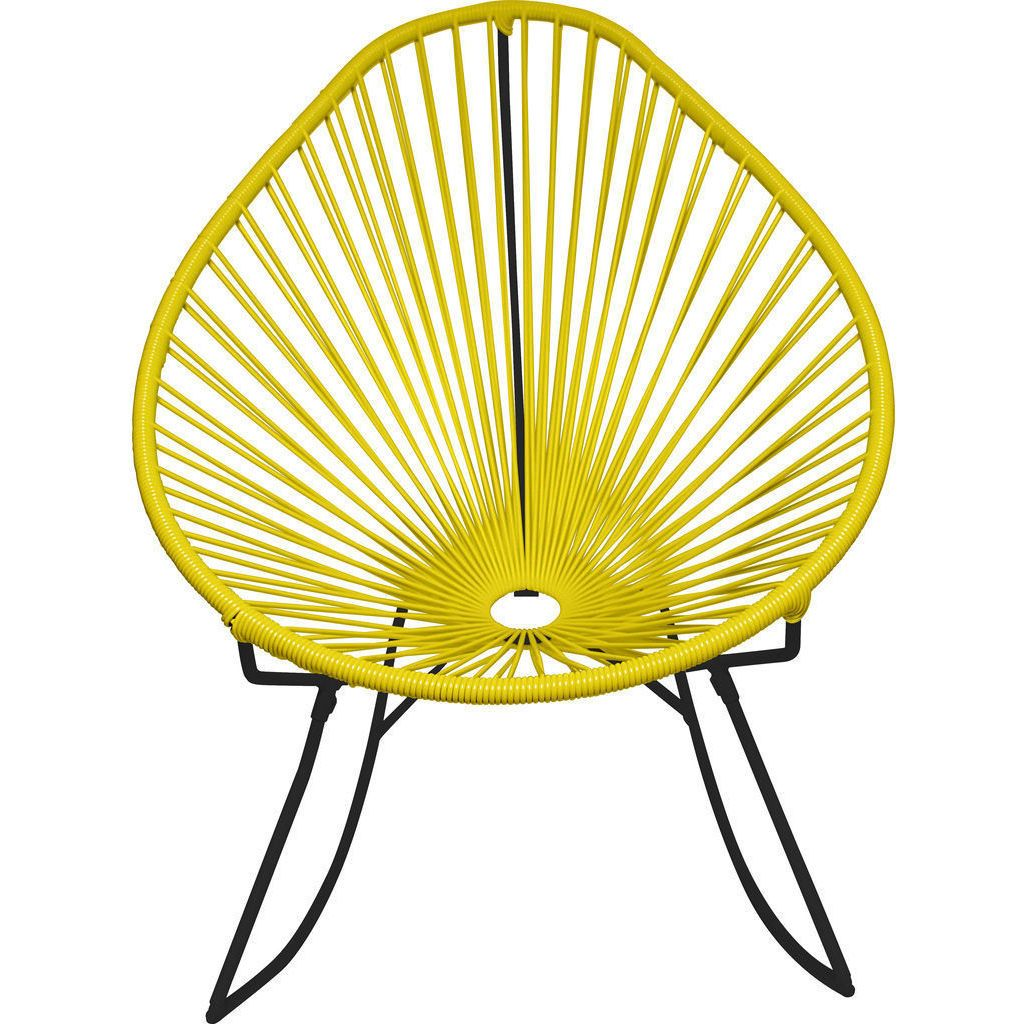 Innit Designs Acapulco Rocker Chair | Black/Yellow