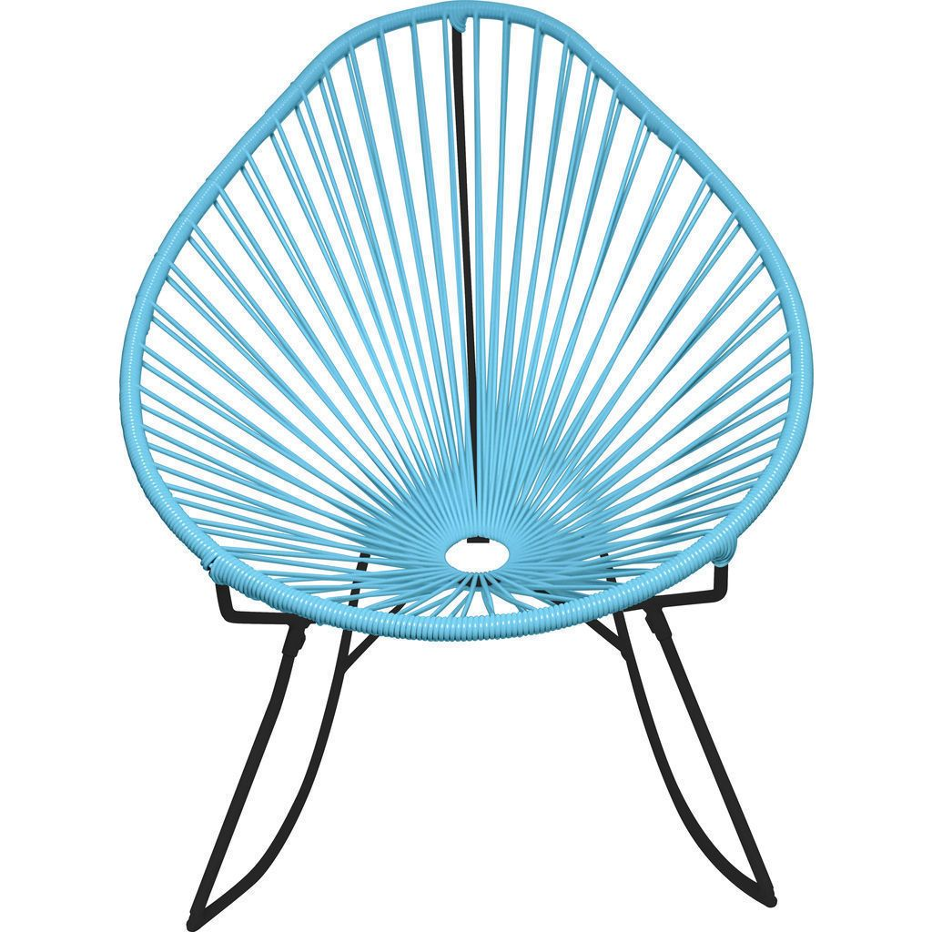 Innit Designs Acapulco Rocker Chair | Black/Blue