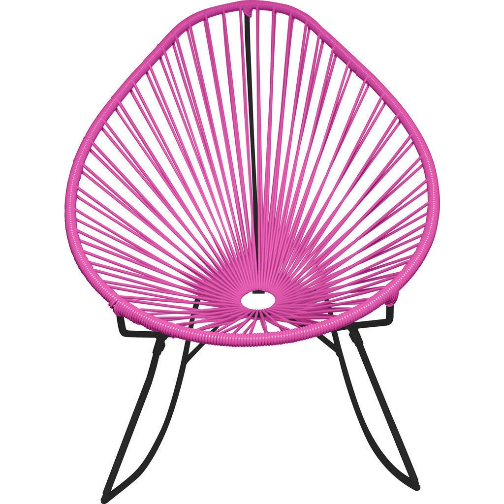 Innit Designs Acapulco Rocker Chair | Black/Pink