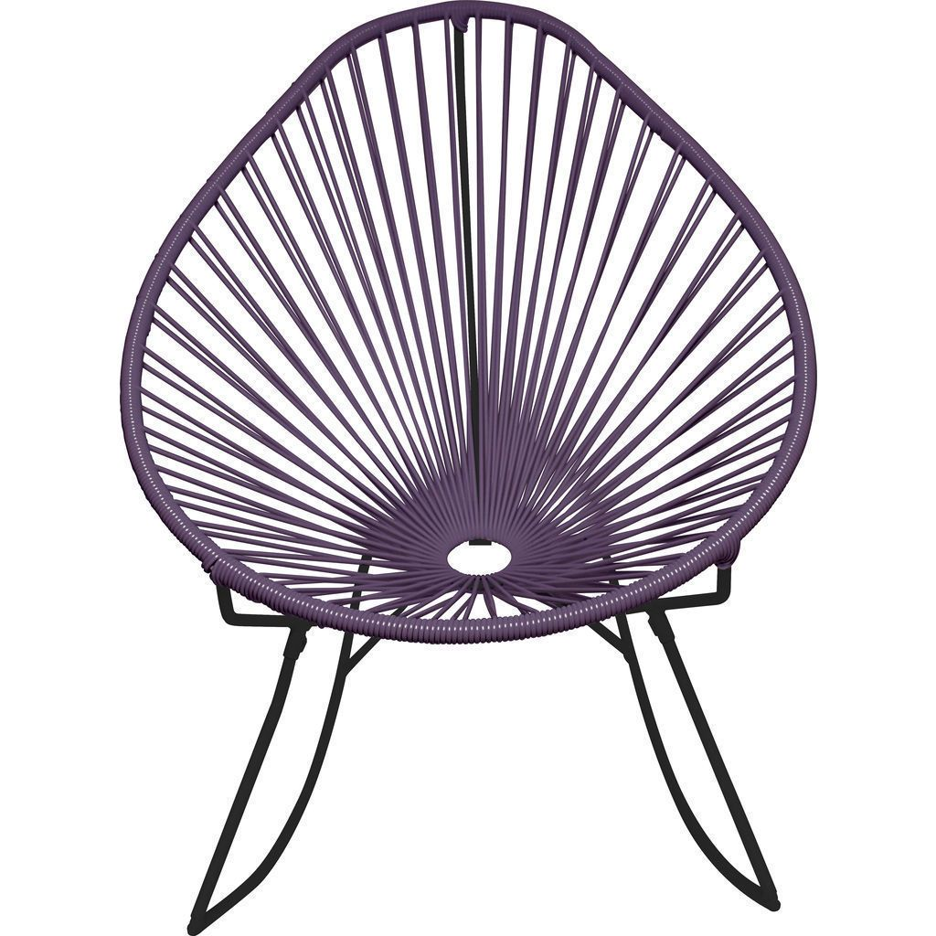 Innit Designs Acapulco Rocker Chair | Black/Grey