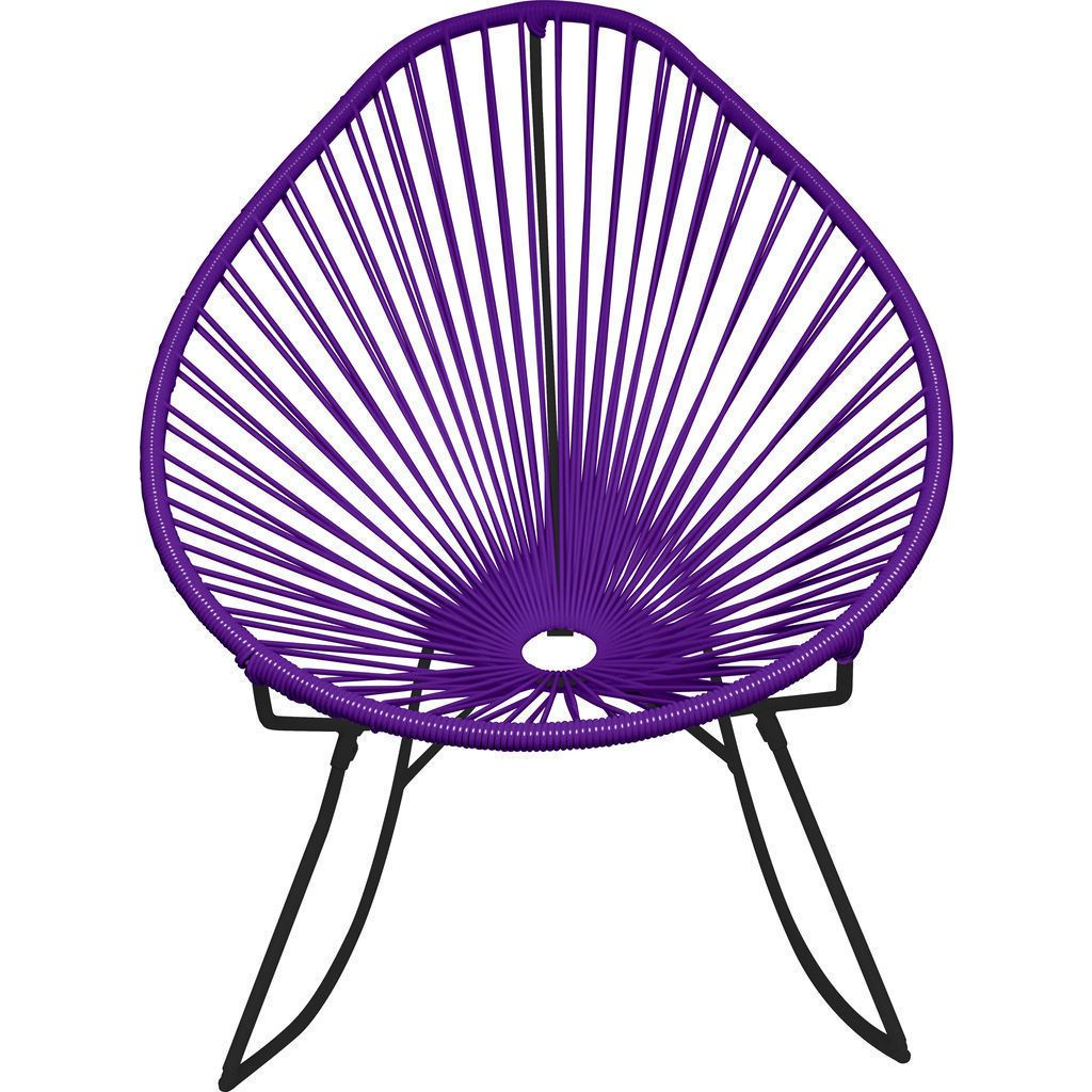 Innit Designs Acapulco Rocker Chair | Black/Purple