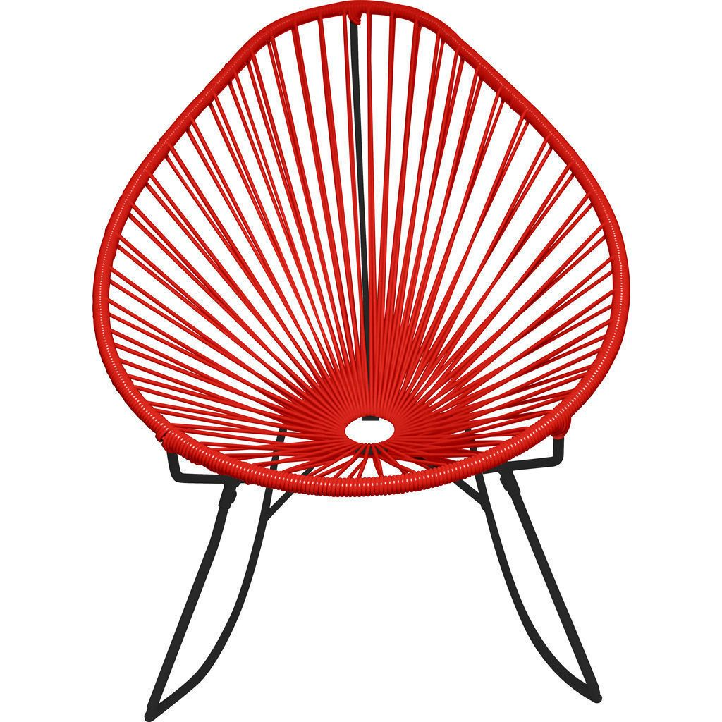 Innit Designs Acapulco Rocker Chair | Black/Red