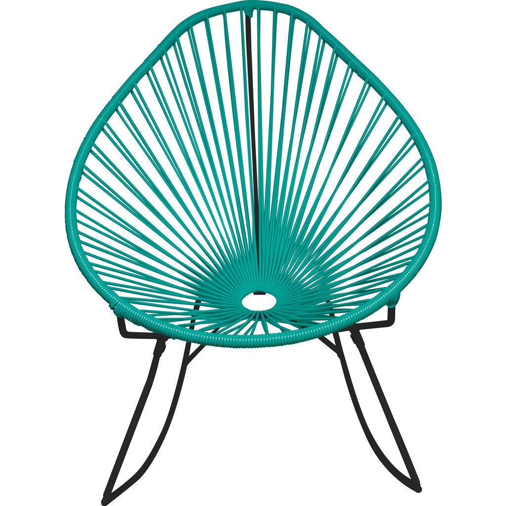 Innit Designs Acapulco Rocker Chair | Black/Turquoise