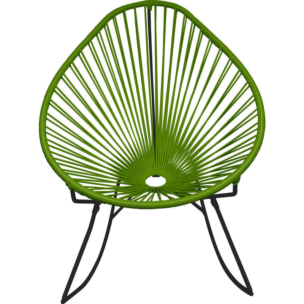 Innit Designs Acapulco Rocker Chair | Black/Cactus