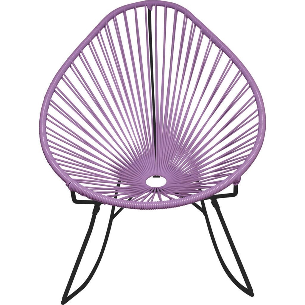Innit Designs Acapulco Rocker Chair | Black/Orchid