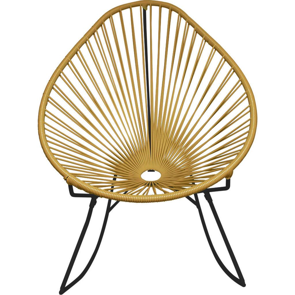 Innit Designs Acapulco Rocker Chair | Black/Gold