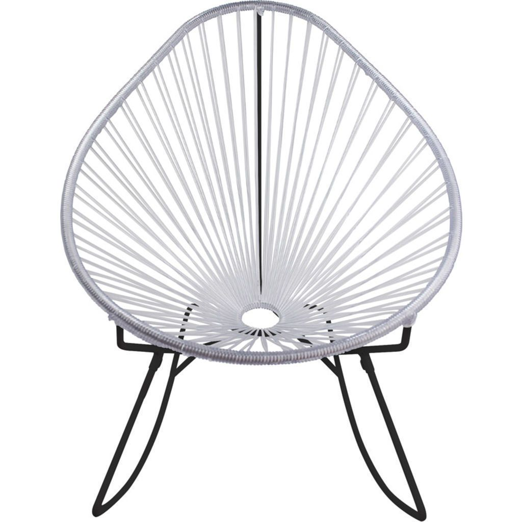Innit Designs Acapulco Rocker Chair | Black/Clear