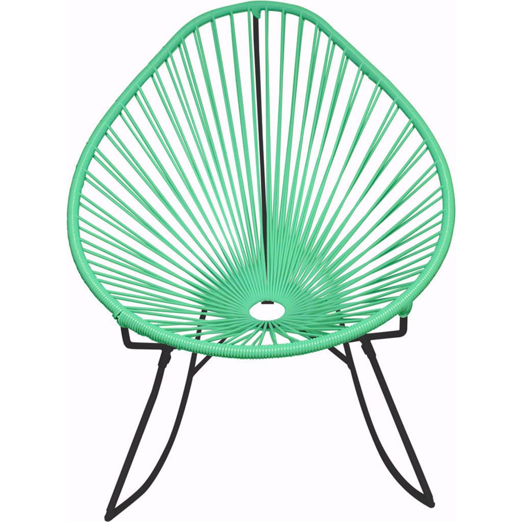 Innit Designs Acapulco Rocker Chair | Black/Mint