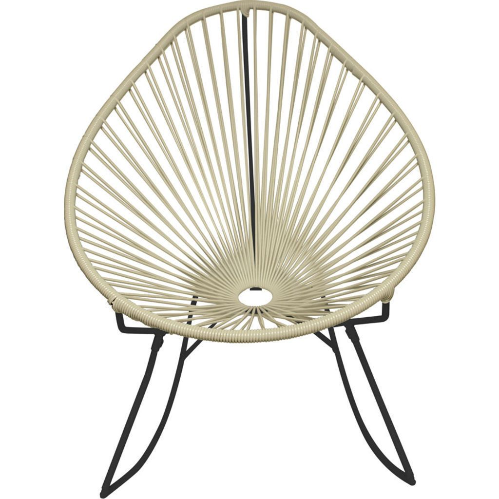 Innit Designs Acapulco Rocker Chair | Black/Ivory