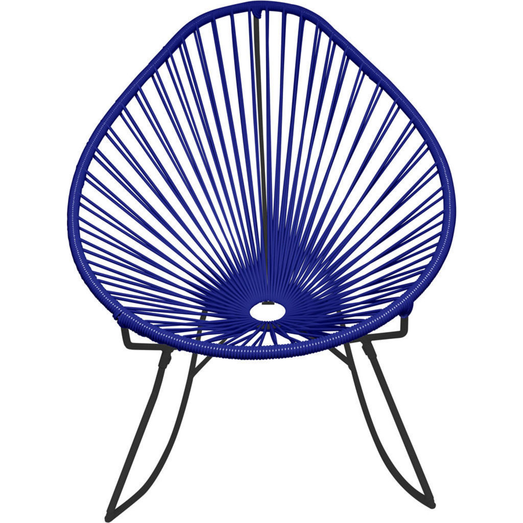 Innit Designs Acapulco Rocker Chair | Black/Deep Blue