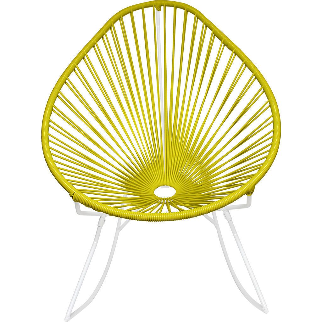 Innit Designs Acapulco Rocker Chair | White/Yellow