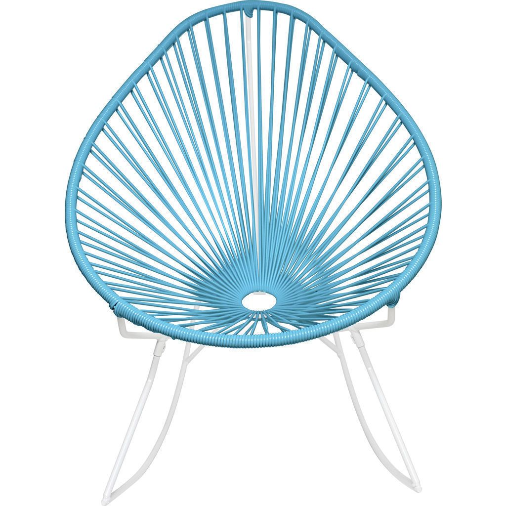 Innit Designs Acapulco Rocker Chair | White/Blue