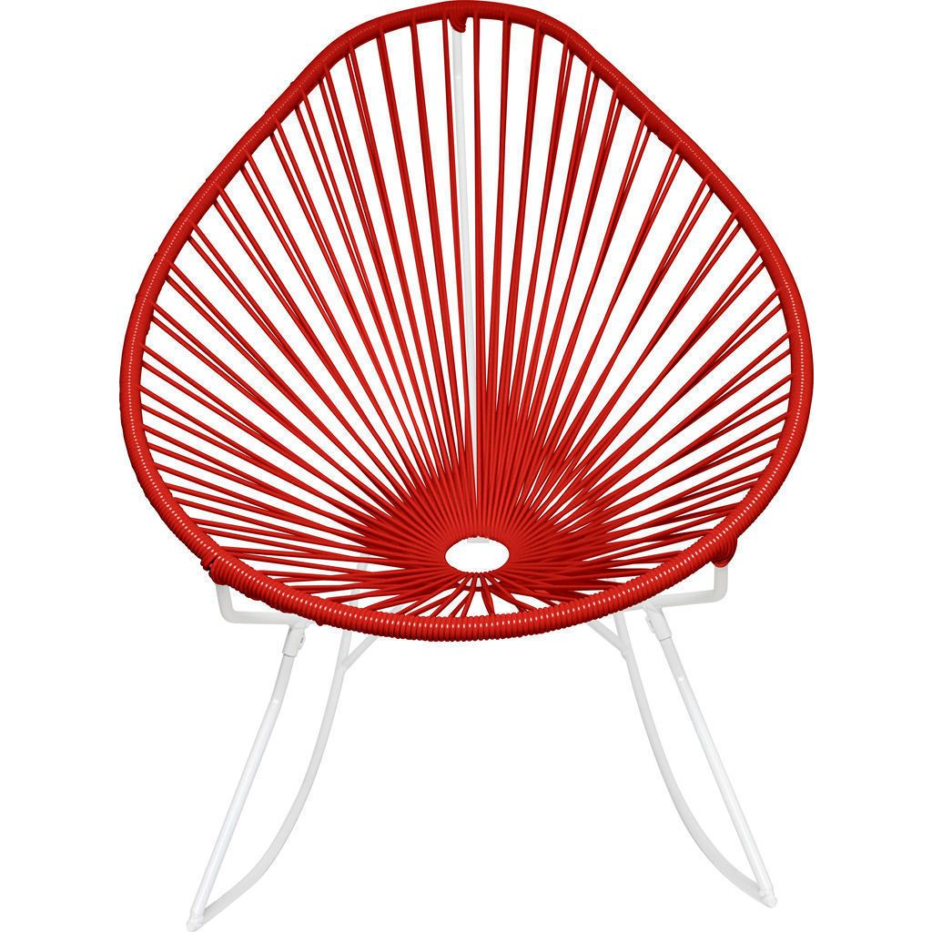 Innit Designs Acapulco Rocker Chair | White/Red