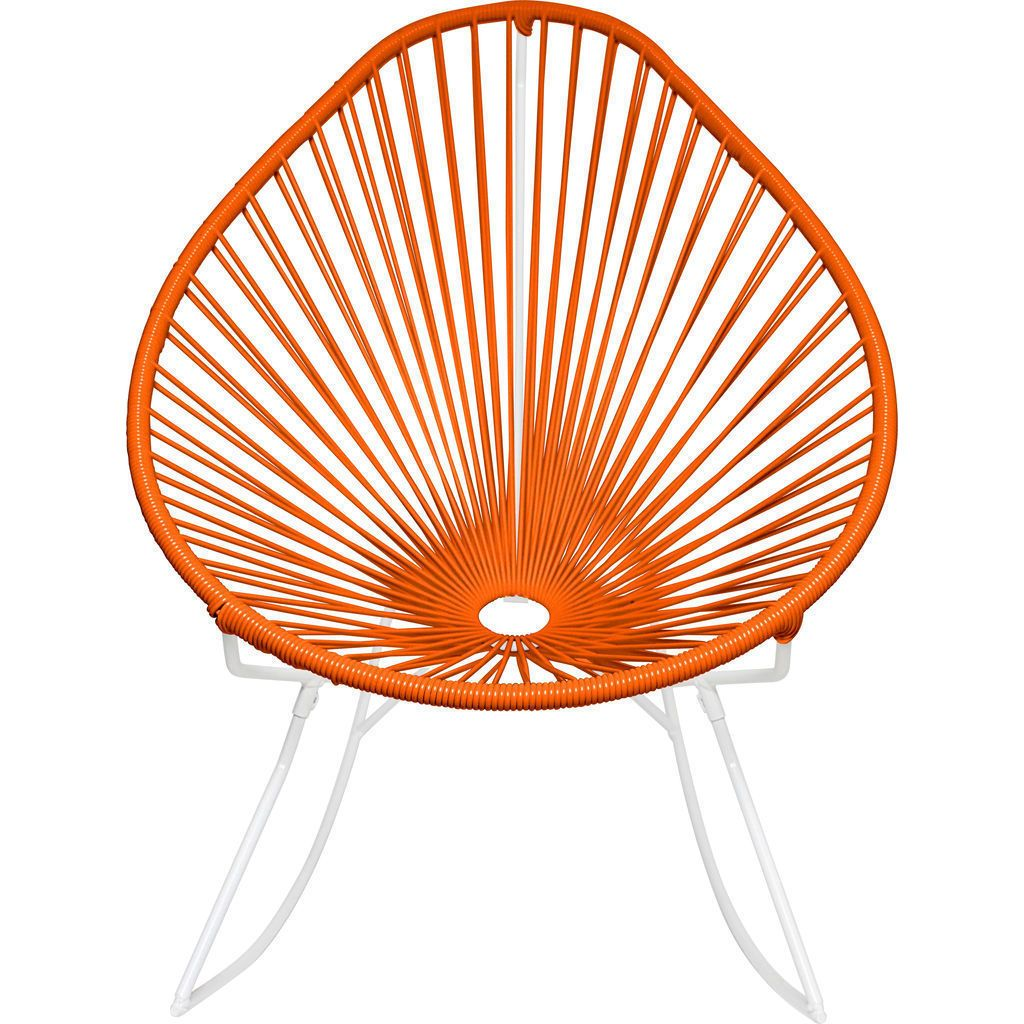 Innit Designs Acapulco Rocker Chair | White/Orange