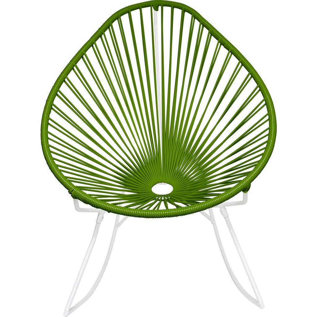 Innit Designs Acapulco Rocker Chair | White/Cactus