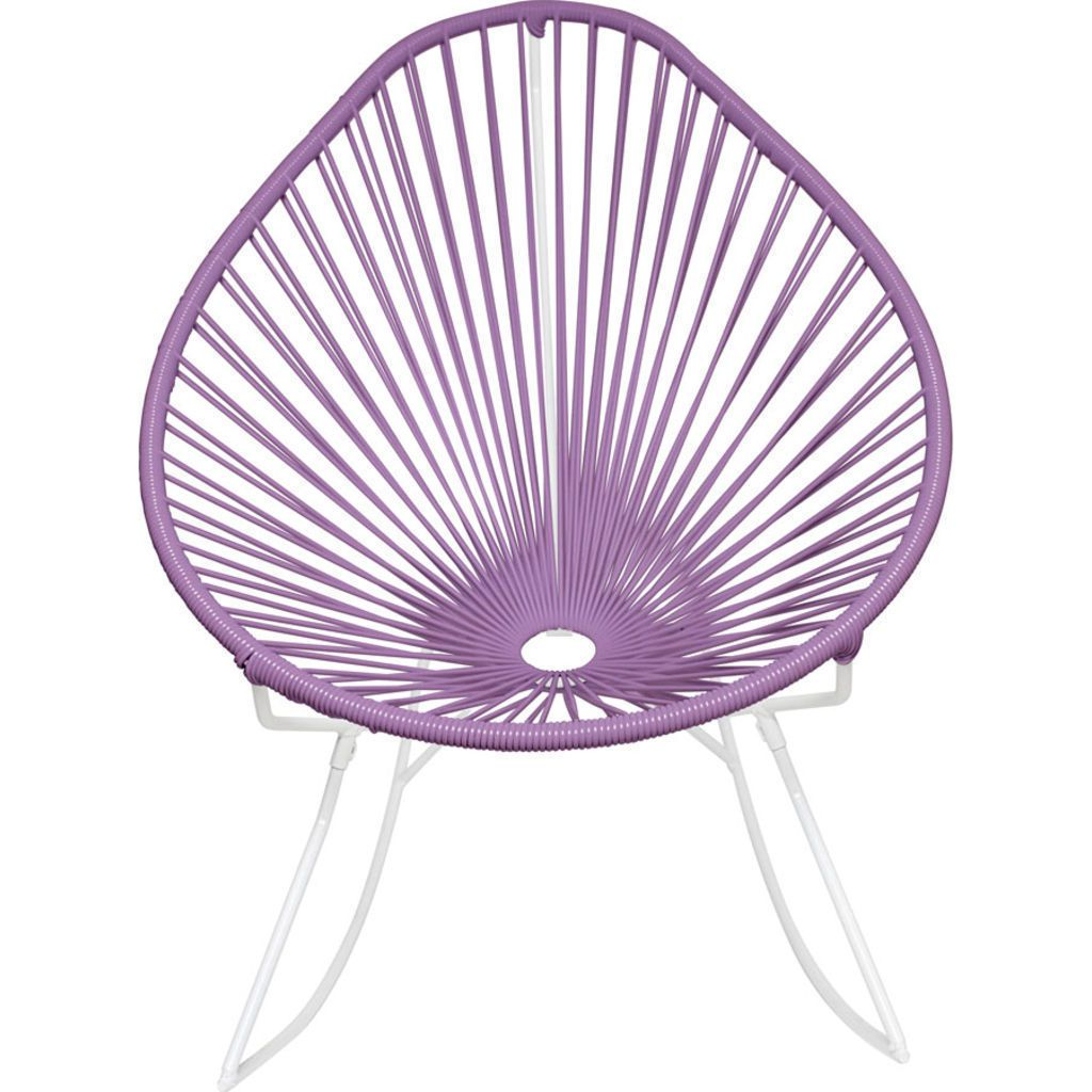 Innit Designs Acapulco Rocker Chair | White/Orchid