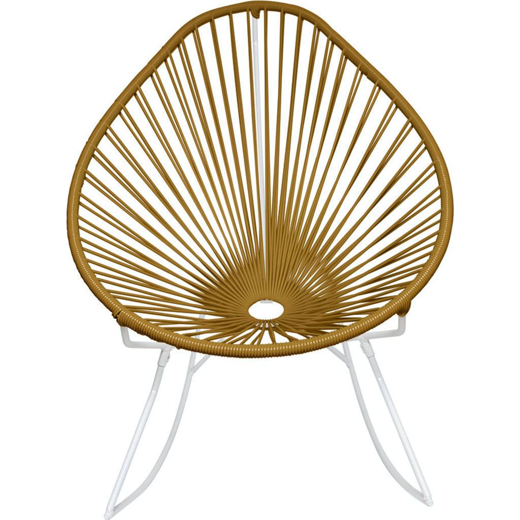 Innit Designs Acapulco Rocker Chair | White/Gold