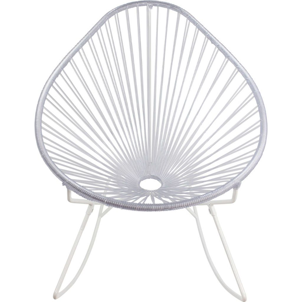 Innit Designs Acapulco Rocker Chair | White/Clear