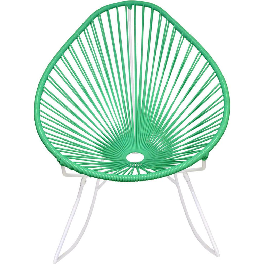 Innit Designs Acapulco Rocker Chair | White/Mint