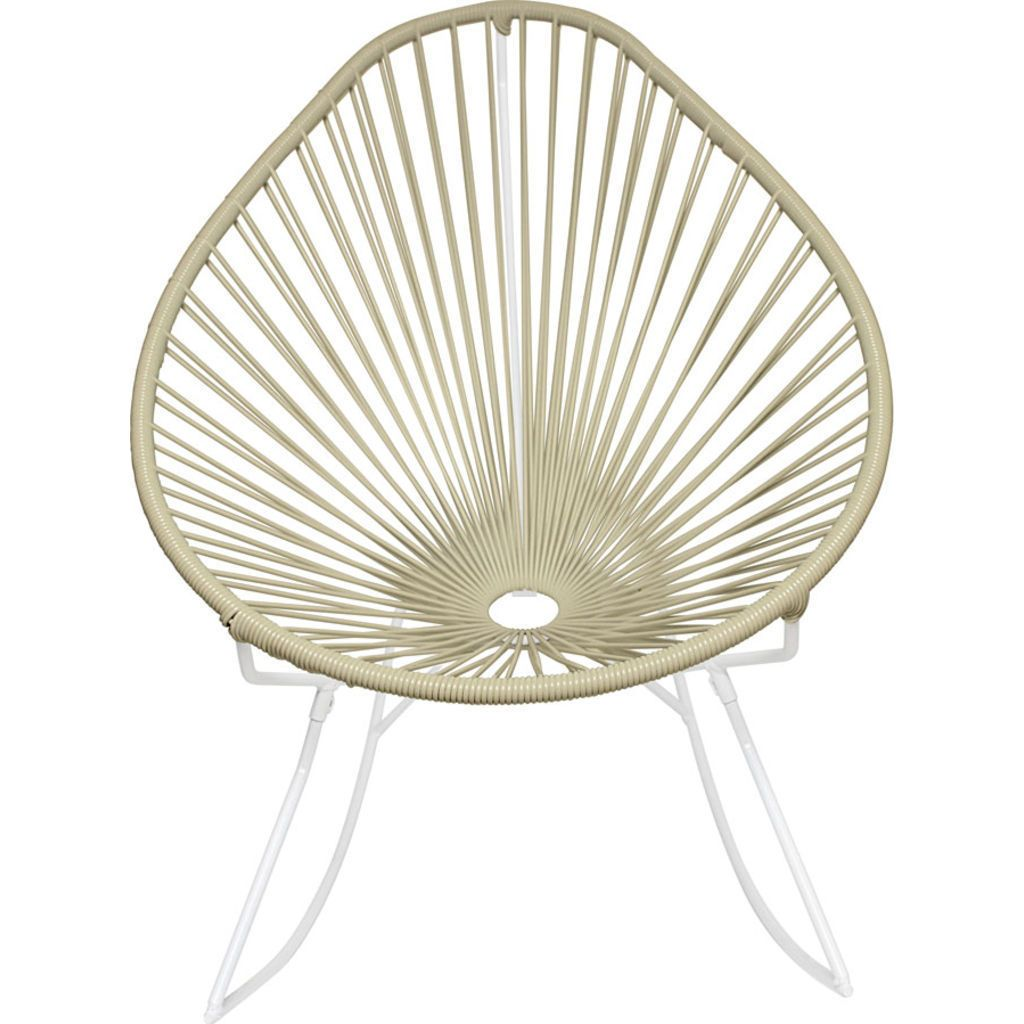Innit Designs Acapulco Rocker Chair | White/Ivory