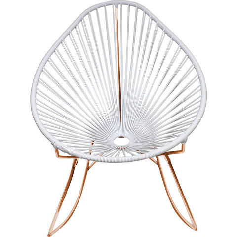 Innit Designs Acapulco Rocker Chair | Copper/White -03-04-02
