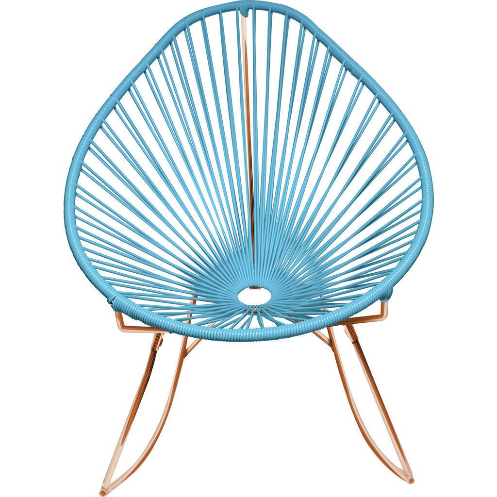 Innit Designs Acapulco Rocker Chair | Copper/Blue