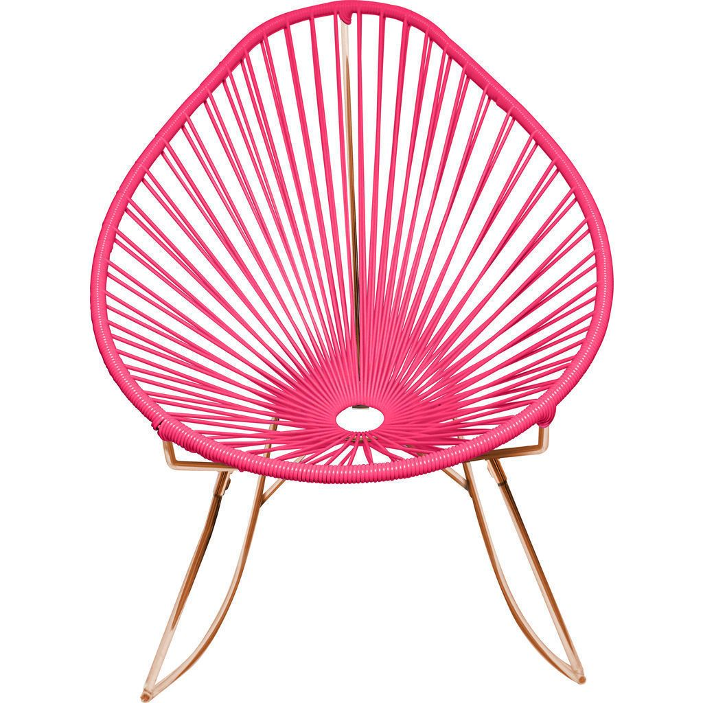 Innit Designs Acapulco Rocker Chair | Copper/Pink