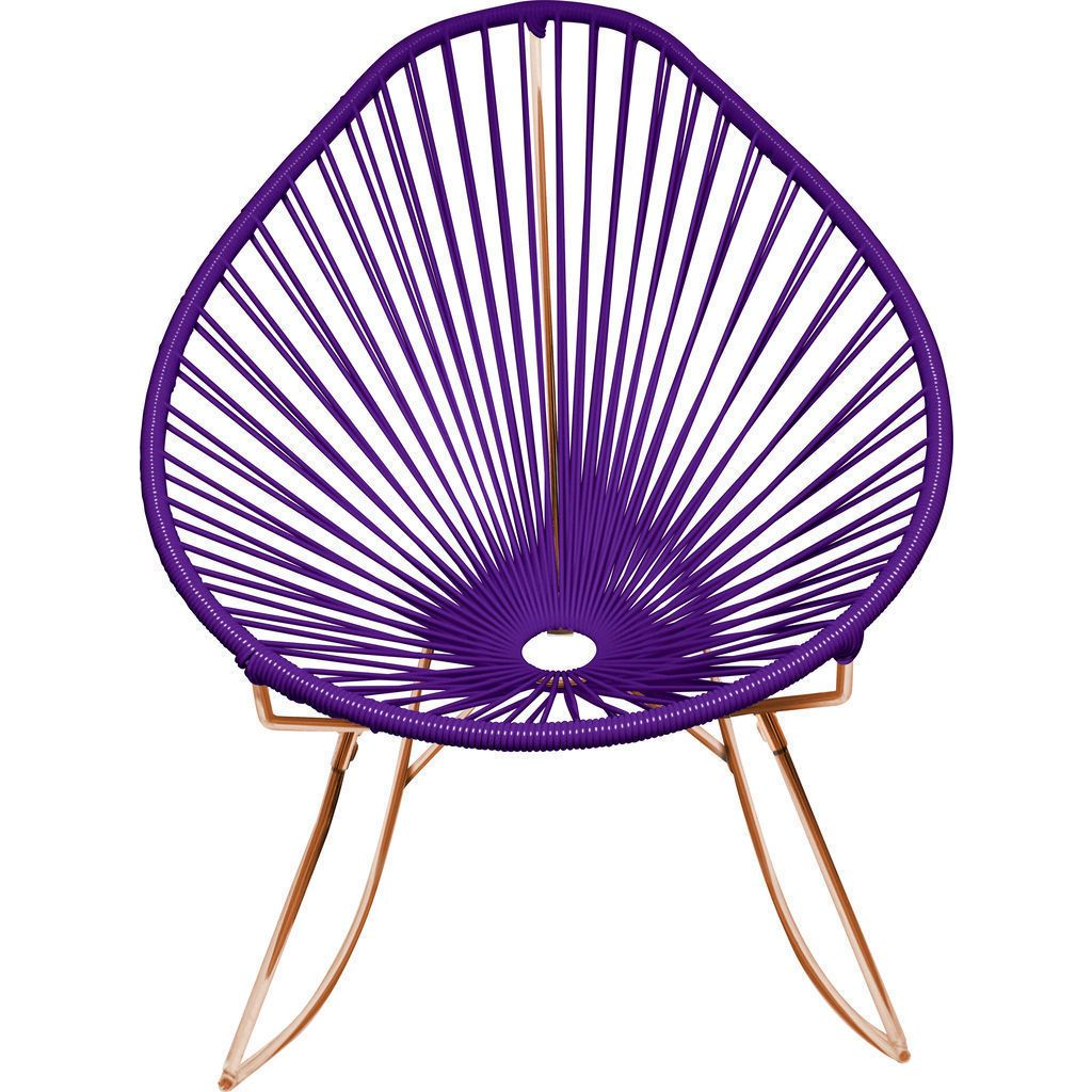 Innit Designs Acapulco Rocker Chair | Copper/Purple