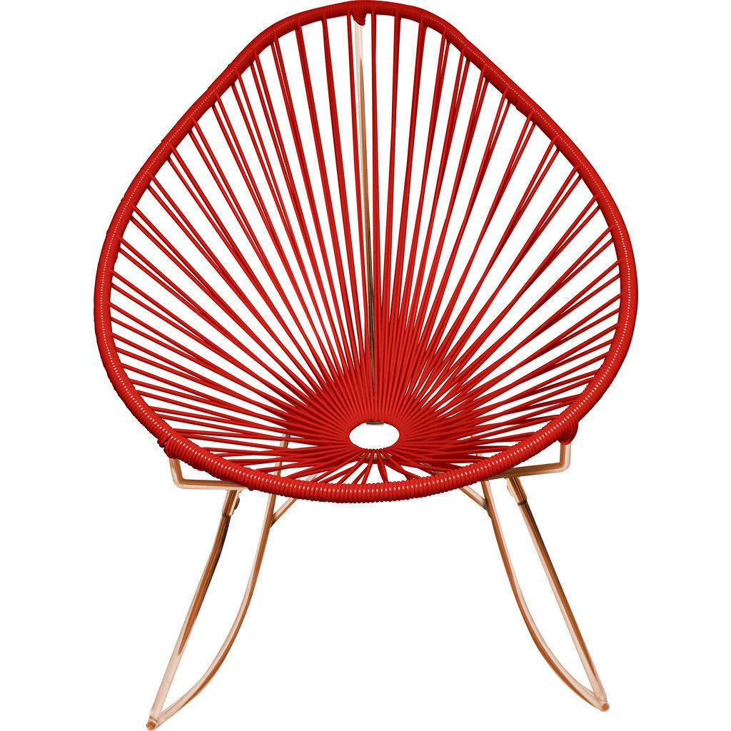 Innit Designs Acapulco Rocker Chair | Copper/Red