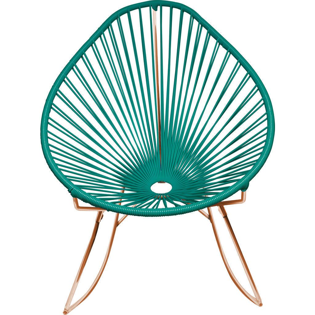 Innit Designs Acapulco Rocker Chair | Copper/Turquoise