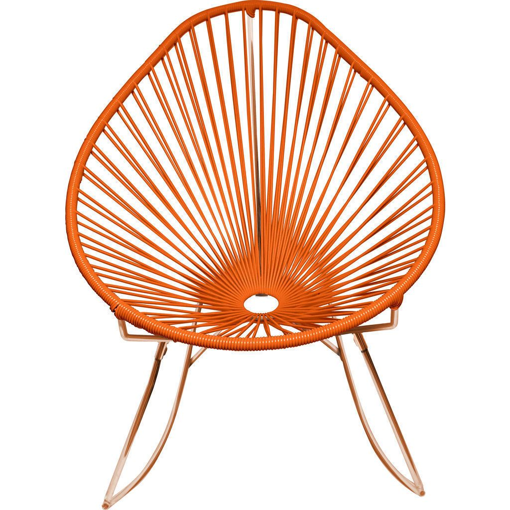 Innit Designs Acapulco Rocker Chair | Copper/Orange