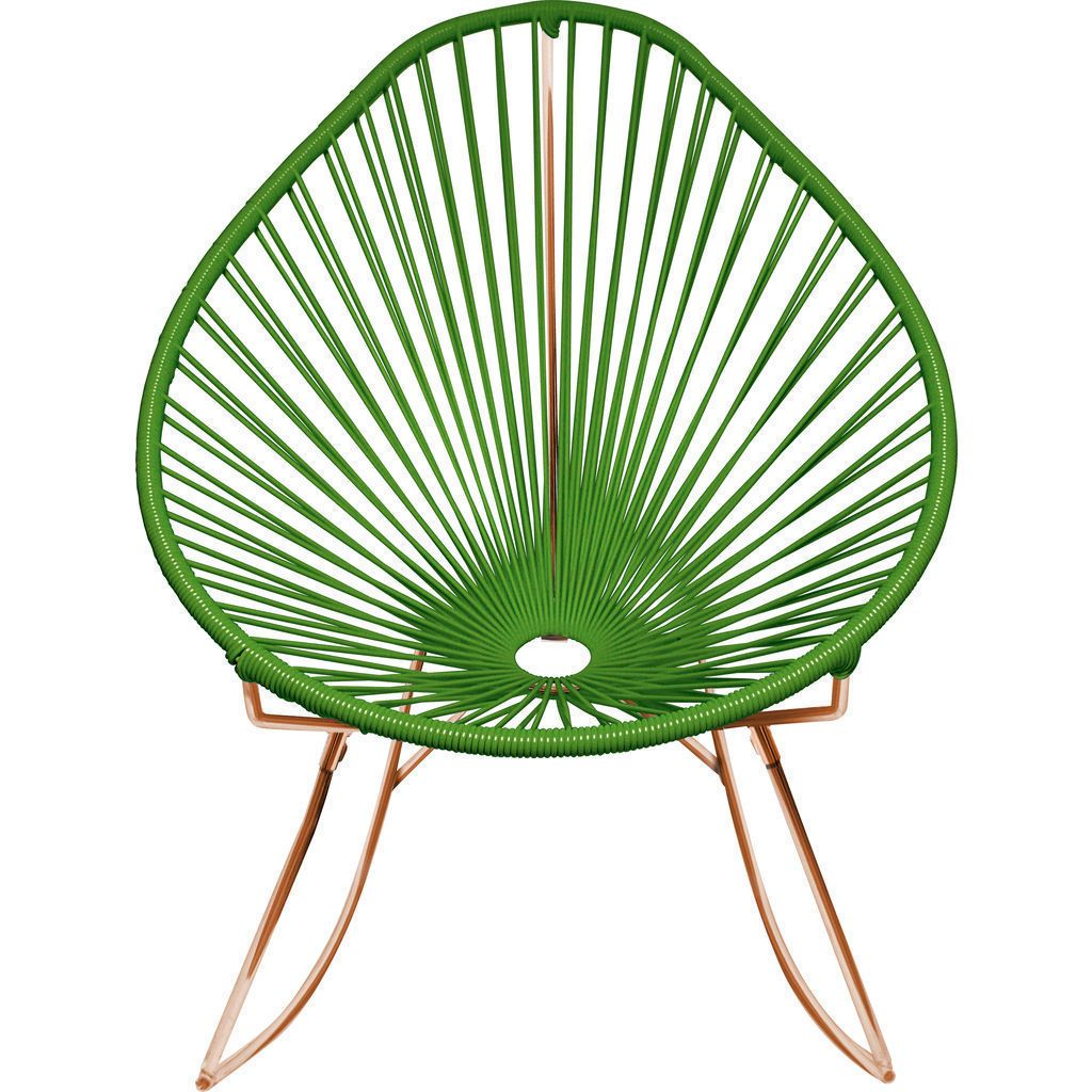 Innit Designs Acapulco Rocker Chair | Copper/Cactus