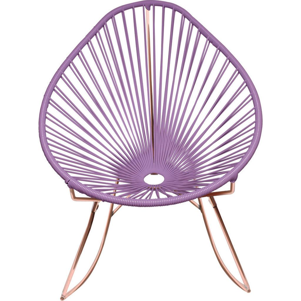 Innit Designs Acapulco Rocker Chair | Copper/Orchid