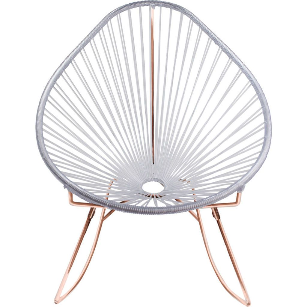 Innit Designs Acapulco Rocker Chair | Copper/Clear