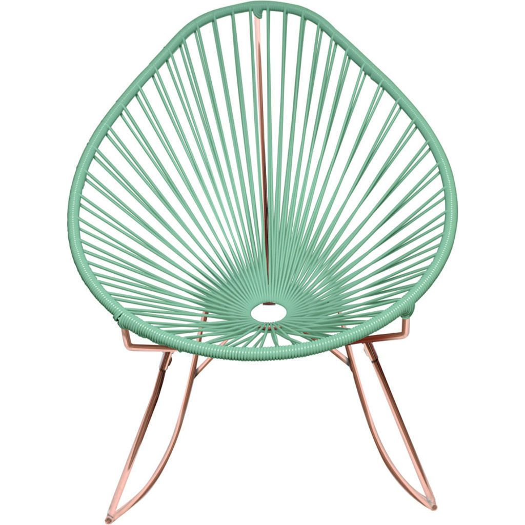 Innit Designs Acapulco Rocker Chair | Copper/Mint