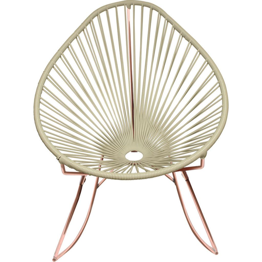 Innit Designs Acapulco Rocker Chair | Copper/Ivory
