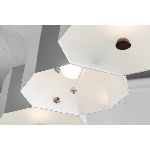Seed Design Zhe Large Pendant Lamp | White SQ-2322MPL6-WH