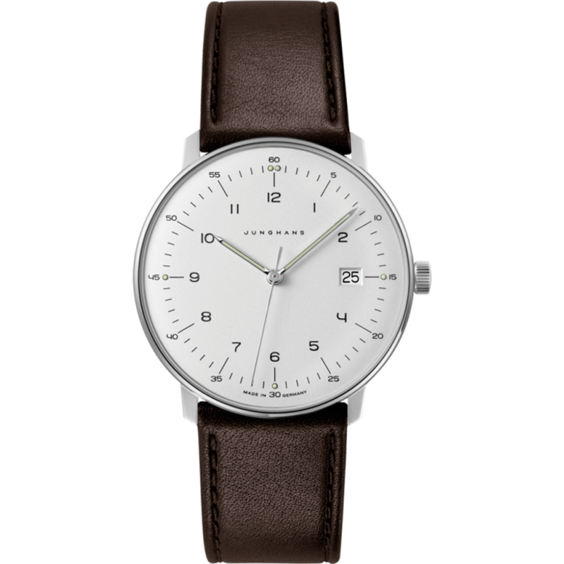 Junghans Max Bill Quartz Date Watch | Brown Calfskin 041/4461.00