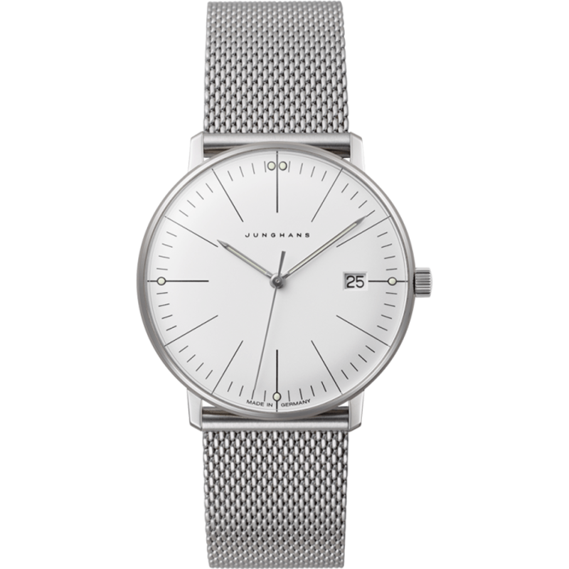 Junghans Max Bill Ladies Date Watch | Milanaise Mesh 047/4250.44