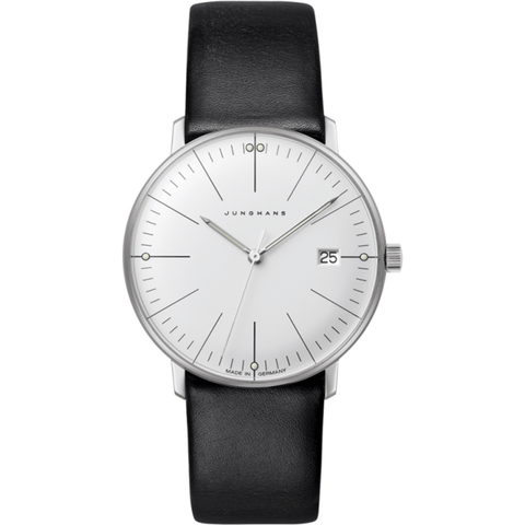 Junghans Max Bill Ladies Date Watch | Black Calfskin 047/4251.00