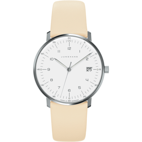 Junghans Max Bill Ladies Date Watch | Natural Calfskin 047/4252.00