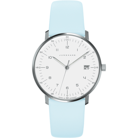 Junghans Max Bill Ladies Date Watch | Blue Calfskin 047/4254.00