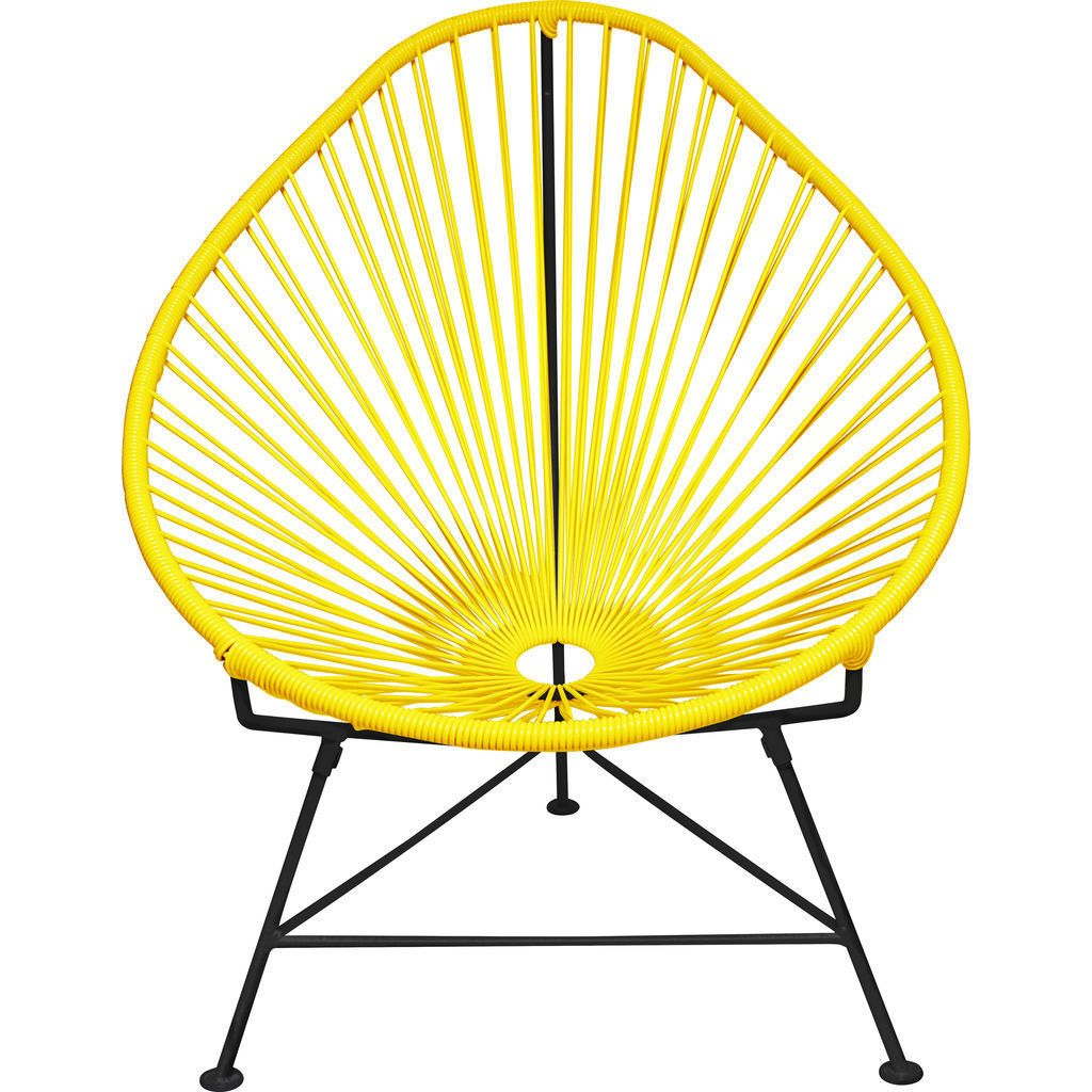 Innit Designs Junior Acapulco Chair | Black/Yellow