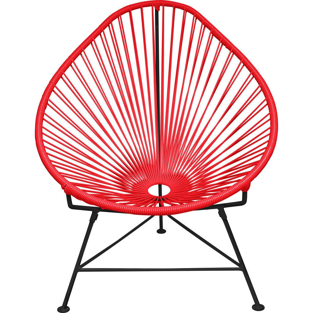 Innit Designs Junior Acapulco Chair | Black/Red